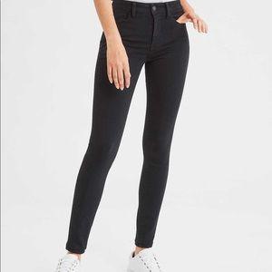 American Eagle High Rise Skinny Black Pants 8 S